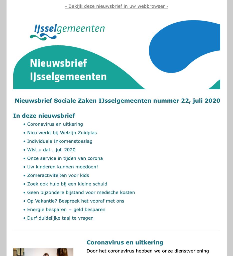 Nieuwsbrief IJsselgemeenten
